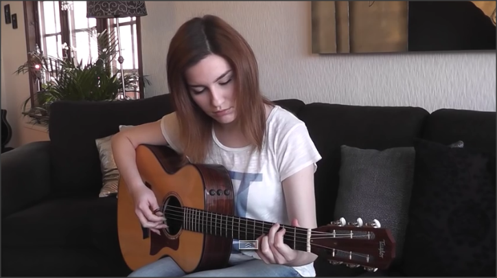 Girl plays hotel california