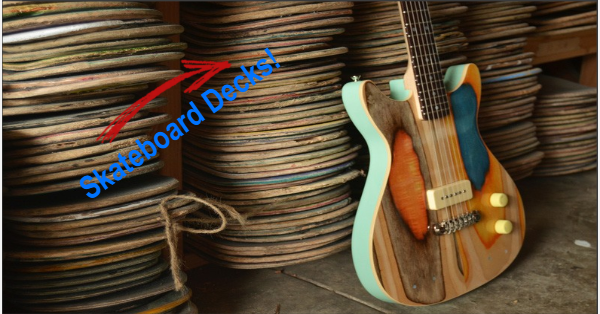 Skateboard decks custom guitar